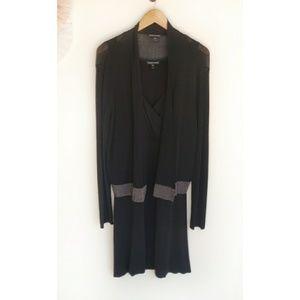 Eileen Fisher Black Dress Set With Cardigan